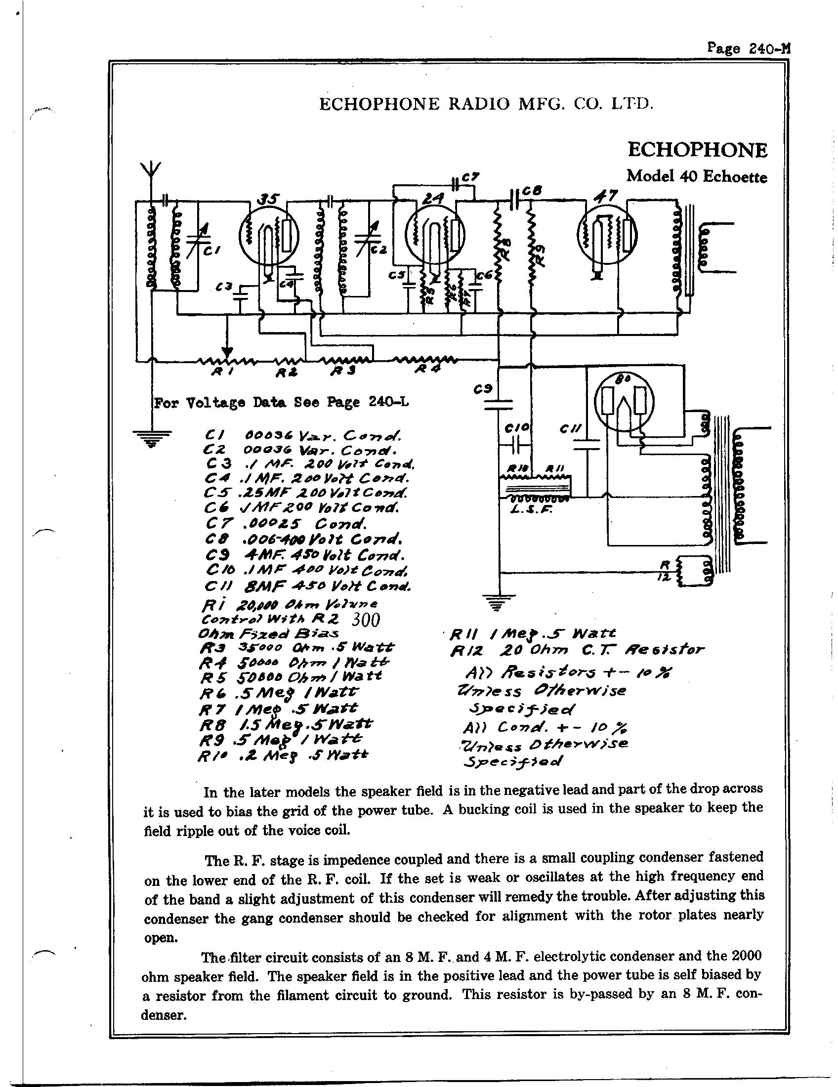 Echophone Radio Corp 40