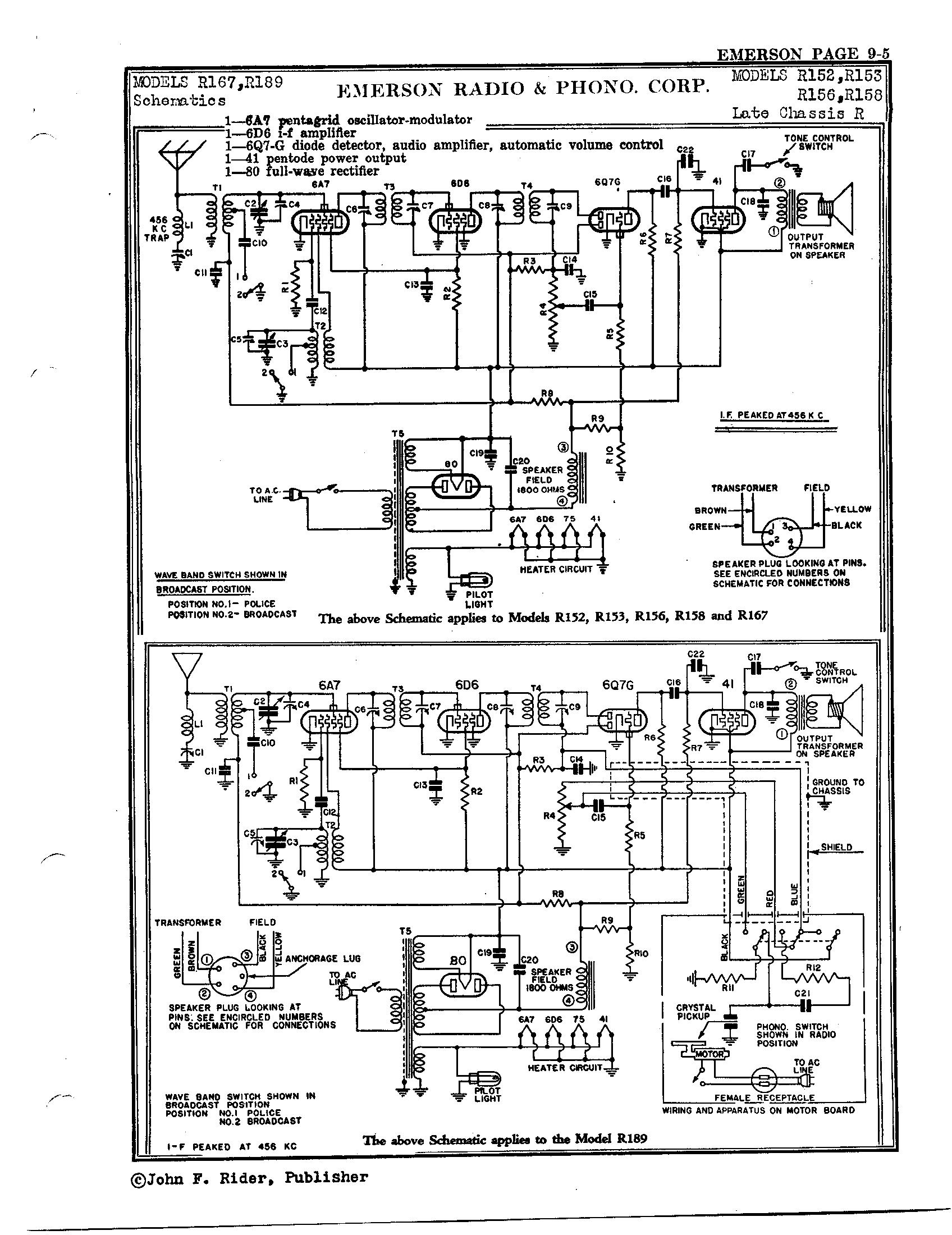 Emerson Radio Amp Phonograph Corp R156