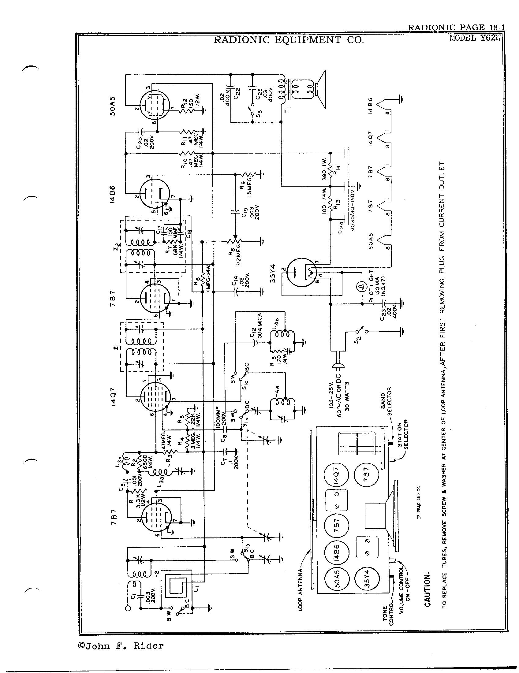 Radionic Equipment Co Y62w