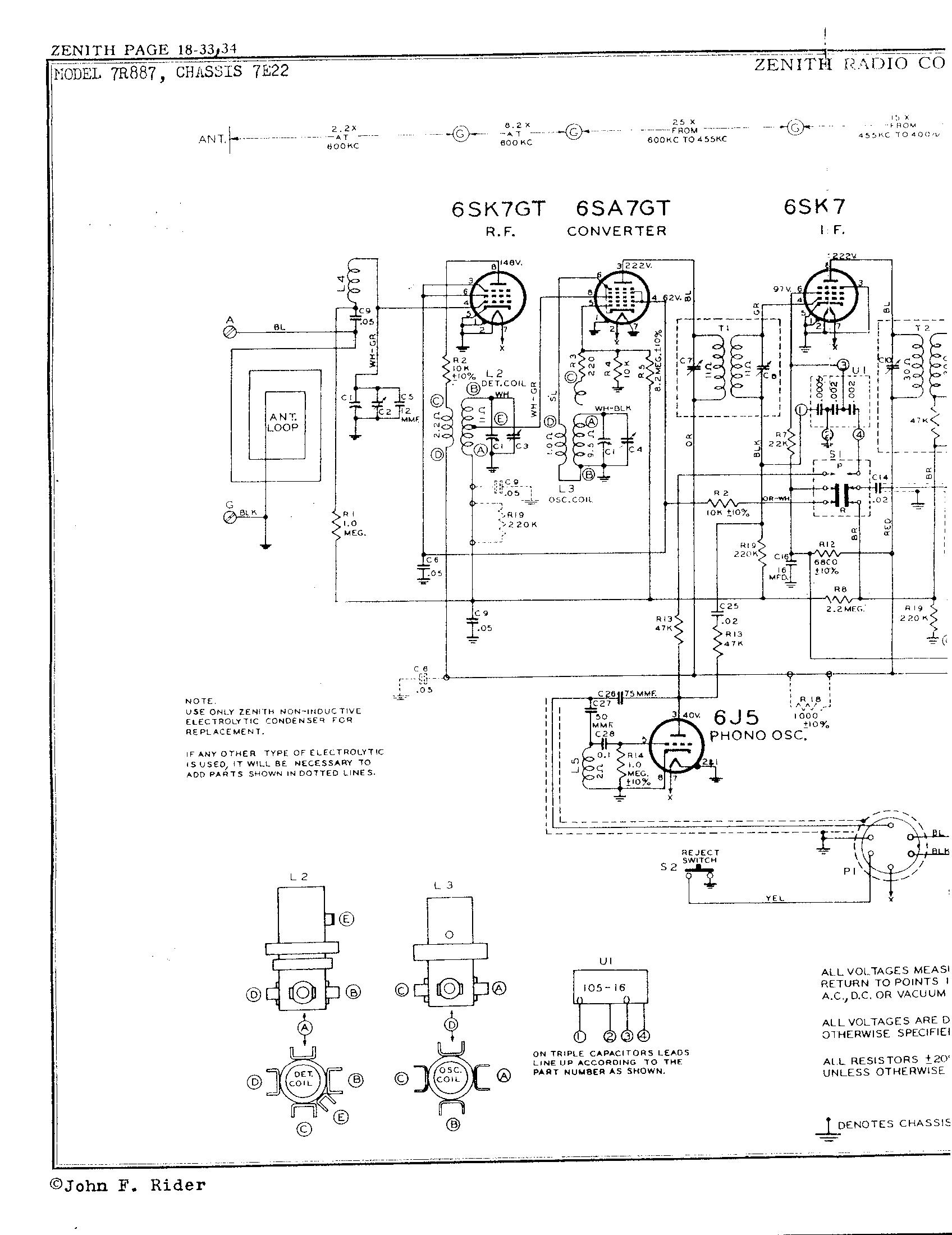 Zenith Radio Corp 7r887