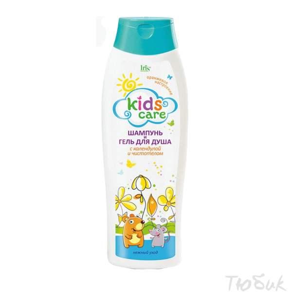 Детский шампунь-гель календула чистотел Iris