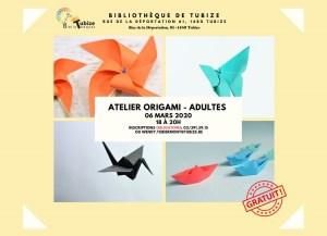 Atelier origami le vendredi 6 mars