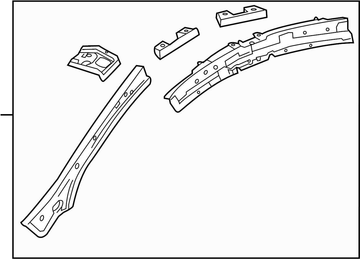 Buick Regal Body A Pillar Reinforcement Right Front