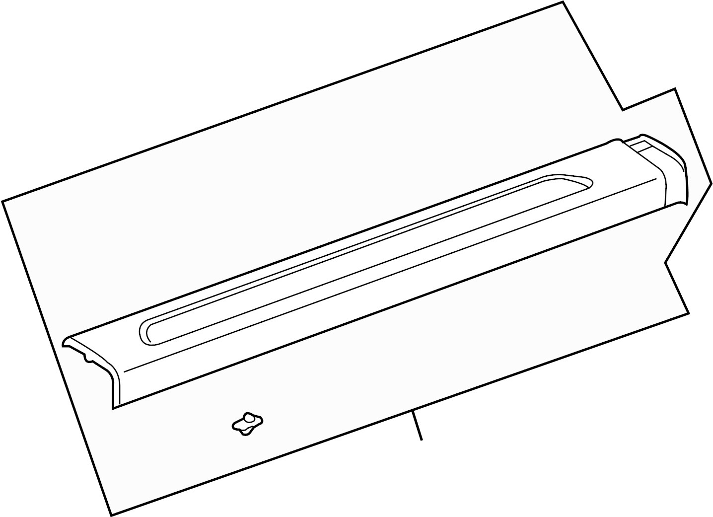 Pontiac G6 Sill Plate Carpet Retainer Convertible