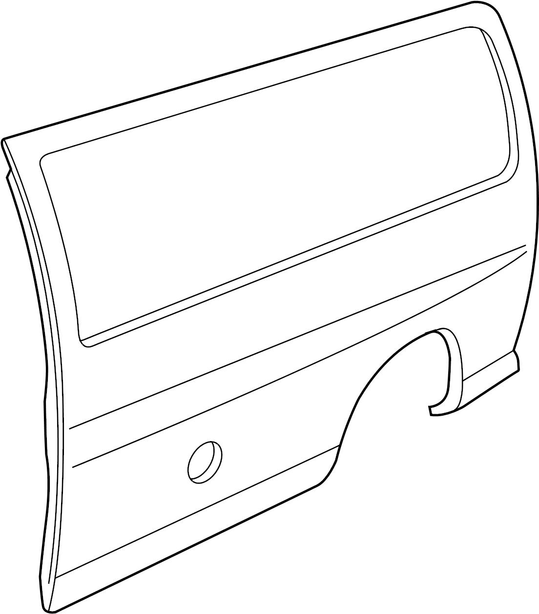 Gmc Savana Quarter Panel Side Panel Quarter