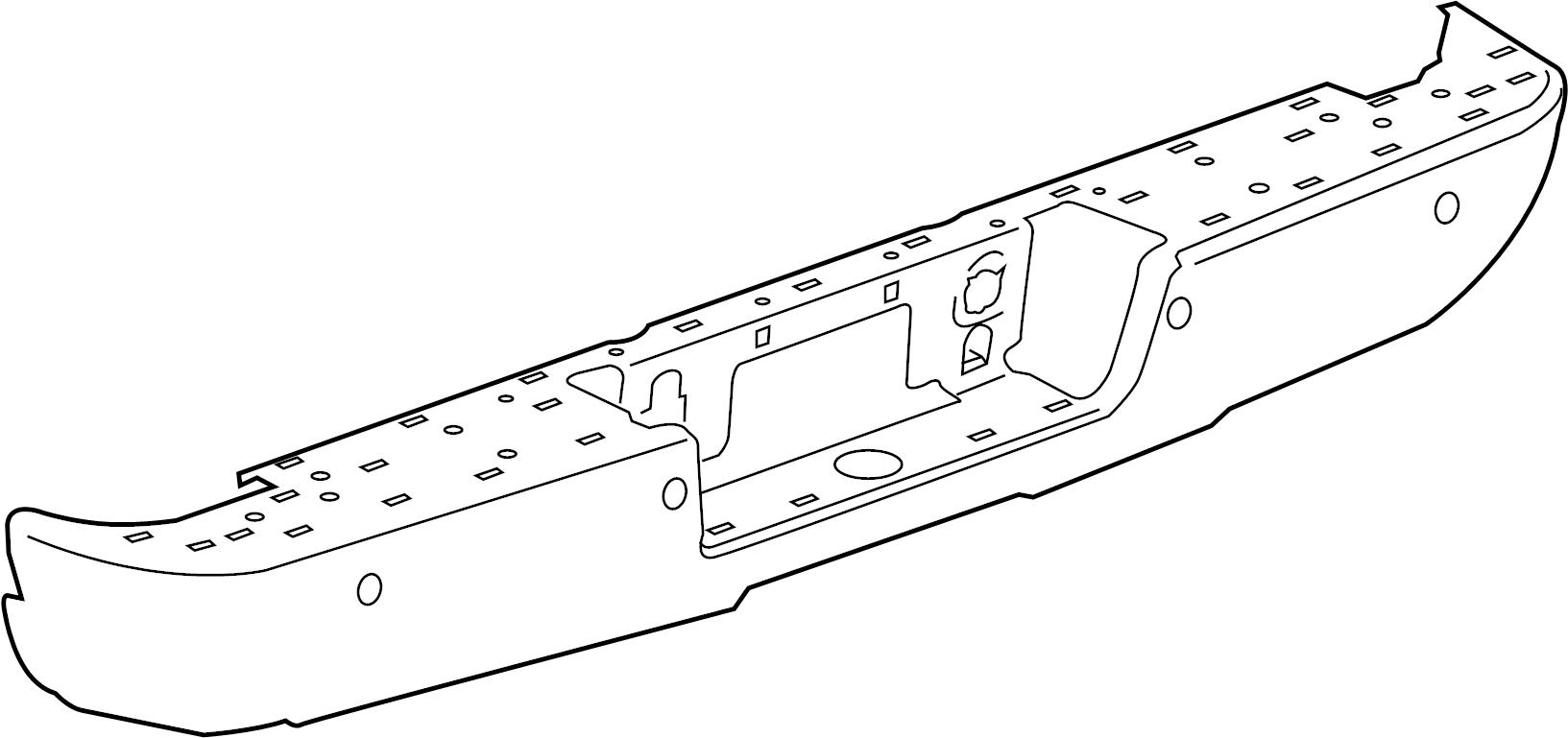 Gmc Sierra Bumper Face Bar Rear Step Corner