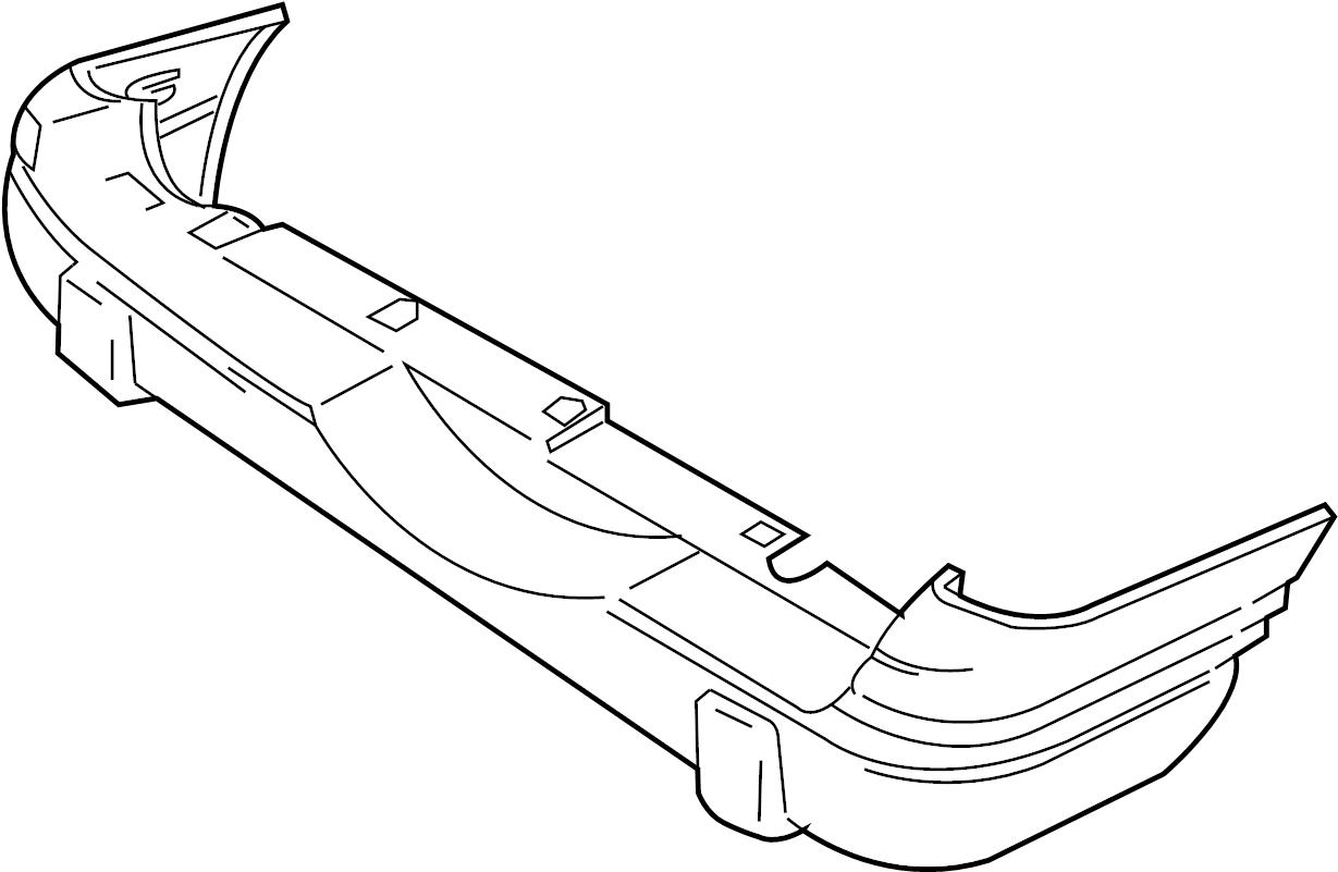 Chevrolet Tracker Bumper Cover Rear