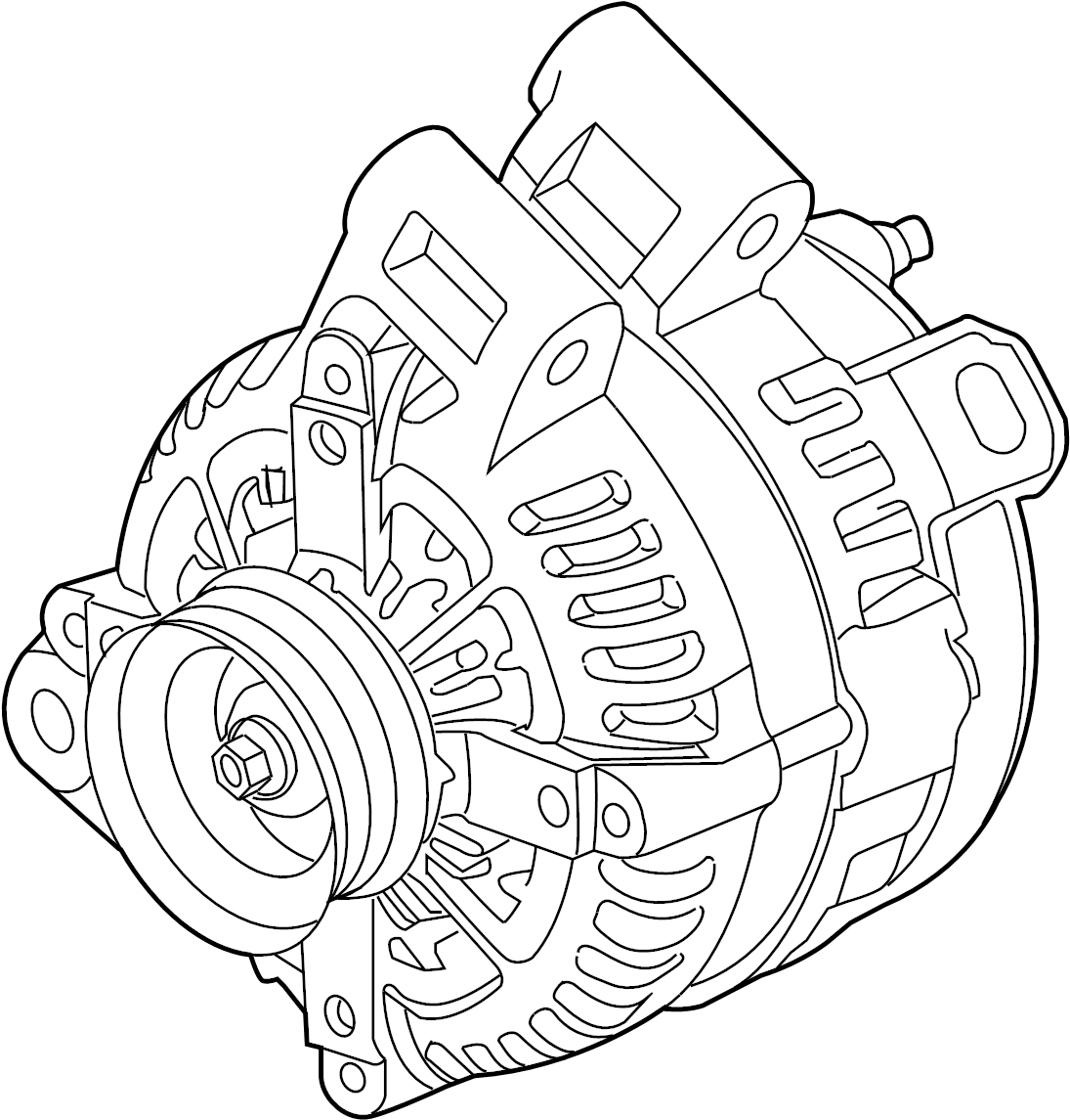 Gmc Acadia Alternator Generator Acadia Acadia Limited Enclave Traverse Outlook