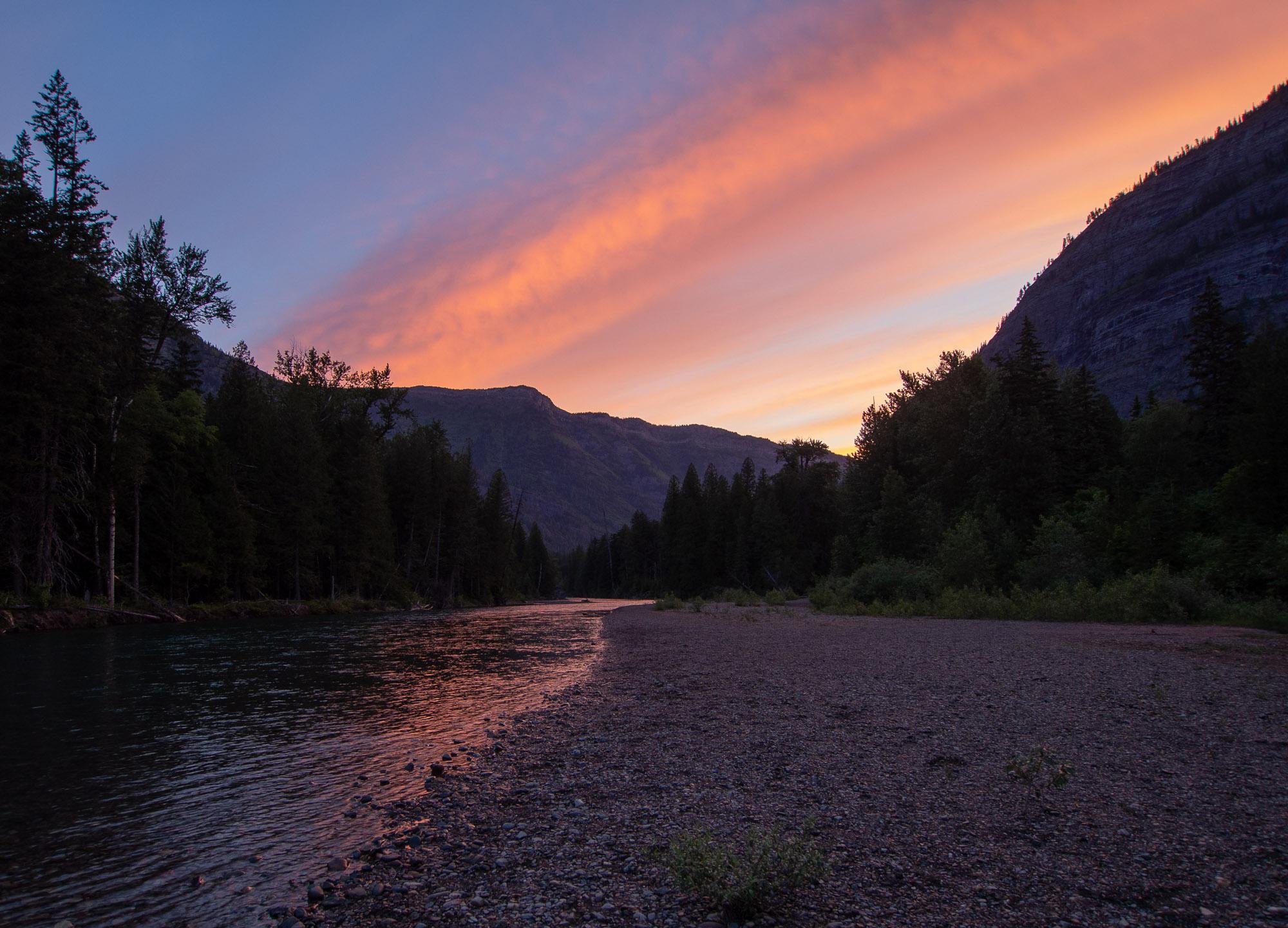 McDonald Creek at Glacier National Park