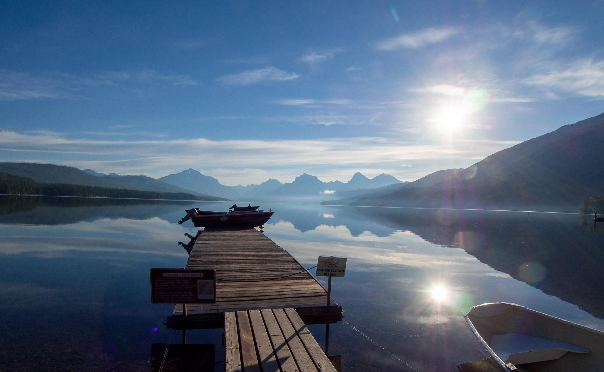 McDonald Lake at Glacier National Park