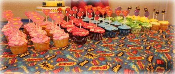 superhero cupcakes tuckinginsuperheroes.com