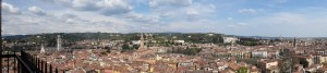 Verona sky-line (getting the hang of the 'panorama feature' on the camera!)