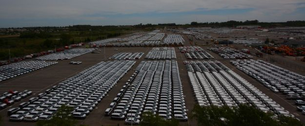 Zarate dockside. This is what it's all about: schlepping new cars around the world