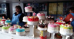 Cakes in Sucre Bolivia