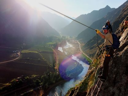 Crossing the rope-bridge (so-called!)