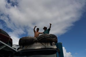 On the truck