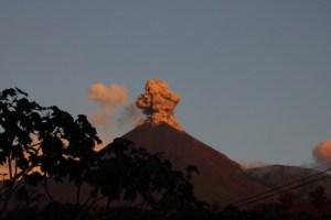 reventador erupting