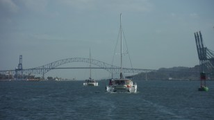 catamarans in the panama canal