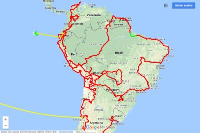 south america route planning