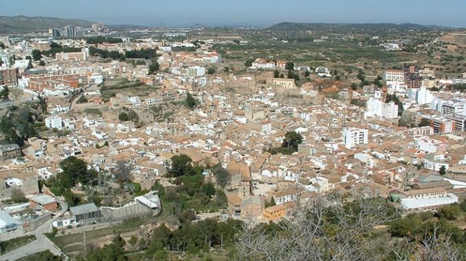 Un imagen panorámica del pueblo de Buñol.