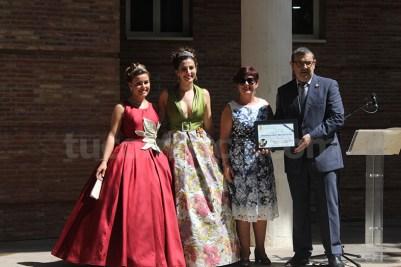 El prsidente del CIM «Santa Cecilia» ha recogido el premio.