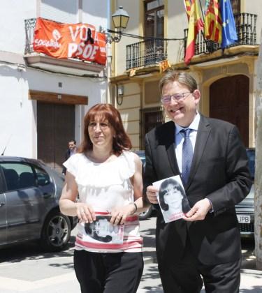 Ximo Puig ha visitado la localidad para mostrar su apoyo a la candidatura.