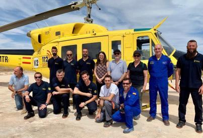 a vicepresidenta ha visitado la base aérea con el subdirector general de la AVSRE, Jorge Suárez