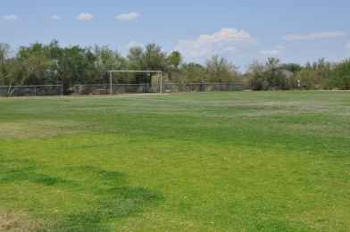 There are 2 lighted soccer fields at Canada Del Oro Riverfront Park
