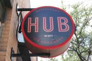 Hub Restaurant Creamery Sign
