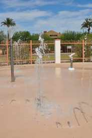 Catalina Park Splash Pad is a small fenced in area in the center of the park