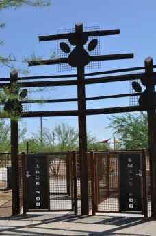 Purple Heart Park dog park entrance
