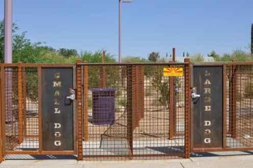 Purple Heart Park dog park exit