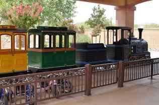miniature train at Rancho Sahuarita