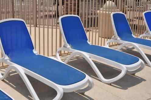 tanning chairs at Rancho Sahuarita