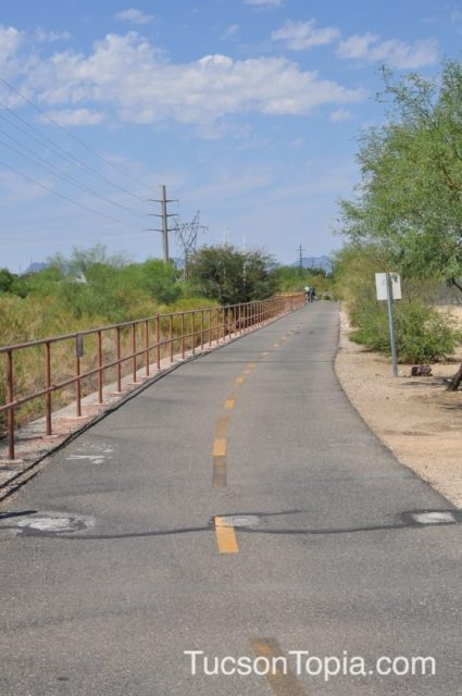 Rillito River Park Trail runs for 12 miles along Rillito River