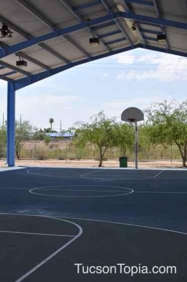 covered basketball court at Brandi Fenton Memorial Park