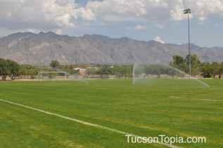 one of three lighted soccer fields at Brandi Fenton Memorial Park