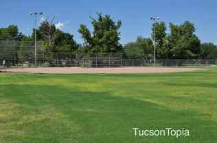 baseball field at Fort Lowell Park