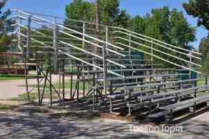 bleachers at Fort Lowell Park