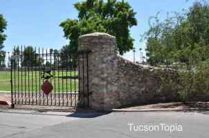 entrance to Fort Lowell Park off Craycroft