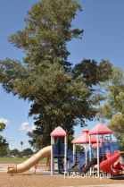 newer playground at Fort Lowell Park