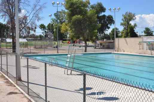 swimming pool at Fort Lowell Park