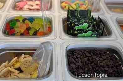 60 premium toppings are available at Yogurtland