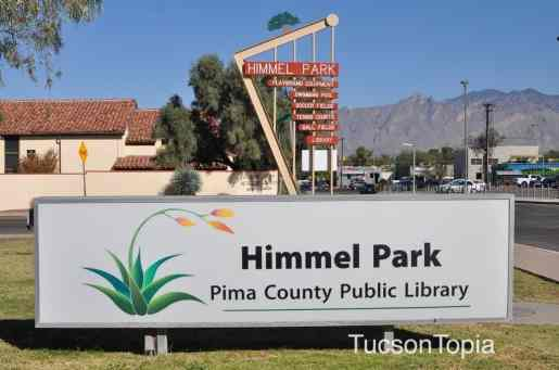 Himmel Park Library is in the northeast corner of the park