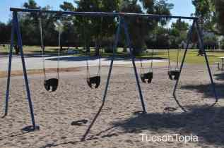 infant swings at Himmel Park