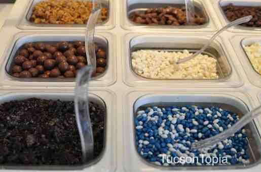 more toppings at Yogurtland