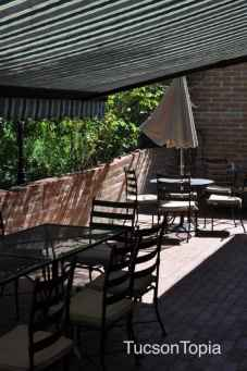 outdoor seating at Tohono Chul Garden Bistro