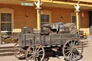 wagon at Old Tucson
