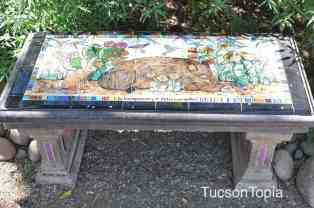 bench at Tucson Botanical Gardens