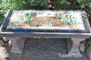 bench at Tucson Botanical Gardens